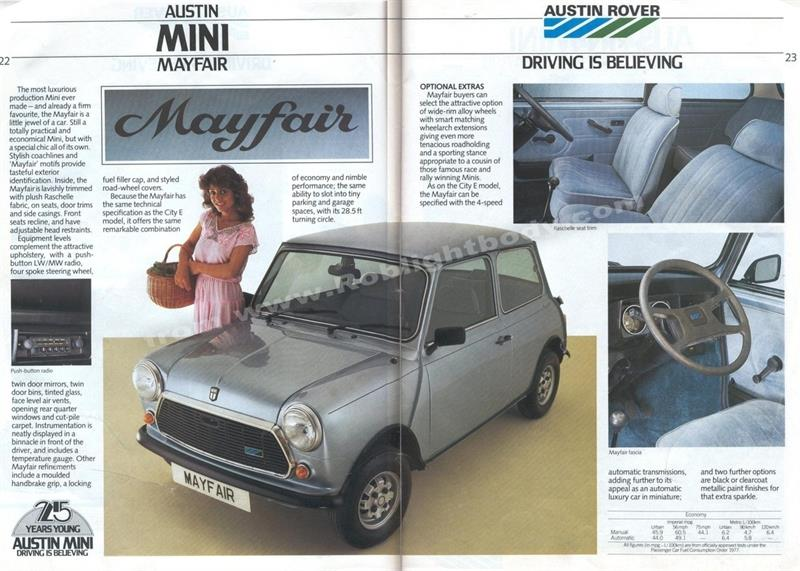Austin Mini Mayfair 1987