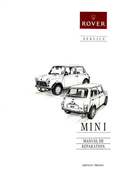 Austin Mini : le manuel de réparation ROVER (PDF indéxé à
