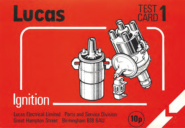 Lucas test card #1 : ignition